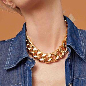 Collar de cadena gruesa Personalidad popular Retro Punk Metal Cuello corto Cadena Hombres y mujeres Hip Hop Jewelry Chokers Collar