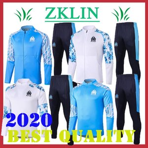 New Olympique de Marseille training suit 2020 2021 marseille soccer jacket Maillot De Foot Benedetto PAYET THAUVIN OM Football tracksuit