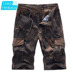 DARPHINKASA Cargo Shorts Men 2020 Summer New Casual Shorts Loose Outdoor Camouflage Tactical Pants Cotton Plus Size 4XL CX200731