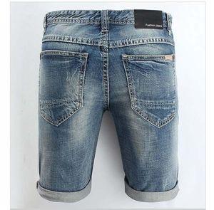 2020 Mens Designer Denim Shorts Fashion Brand Jeans Shorts Denim Shorts Casual Ripped Cropped Pants 27-44