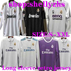 Retro Real Madrid uzun kollu futbol formaları Zidane RAUL RONALDO KAKA 2001/02 2006 07 10 11 12 13 14 15 16 17 18 Retro futbol tam gömlek