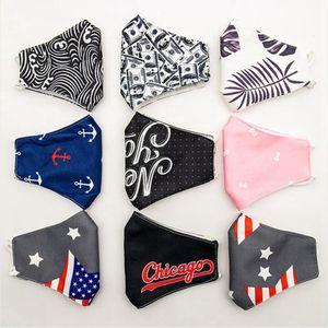 USA Flag Print Face Mask Adjustable Breathable Dustproof Adult Protective Mask Outdoor Reusable Cotton Masks DDA300