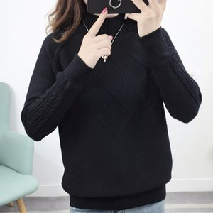 Women Sweater Full Sleeve O-Neck Fashion Ladies Cotton Knitting Solid Hedging Pullover Jumper Female Casual Girls Sweaters