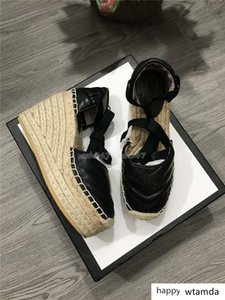 Classic style High-heeled sandals women designer sandals real Leather platform espadrille Heel height 12cm platform model size 35-41