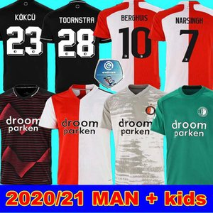 20 21 Feyenoord Fußball-Trikot KOKCU Berghuis FER Camiseta de futbol JORGENSEN zu Hause weg 2020 2021 Sinisterra Torwart Männer Kinder T-Shirt