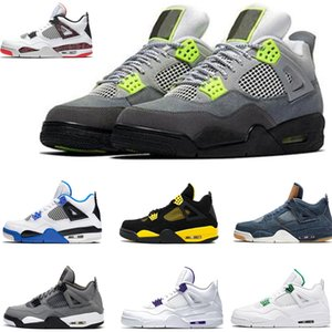 2020 4s Basketbol Ayakkabıları Kara Kedi Beyaz Siyah Kırmızı Gri Tasarımcı Lüks Trainer beyaz Soprts Atletik Sneaker Boyut 40-47