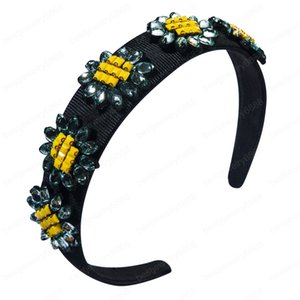 Women's flower hair band high-end fabric rhinestone out all-match Super immortal series head band