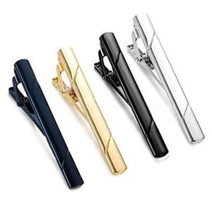 Formel cuivre Hommes Twill métal Fashion Stripe pinces à cravate simple cravate Cravate Pin barre fermoir clip Clamp Pin pour navire drop Hommes Coffret Cadeau