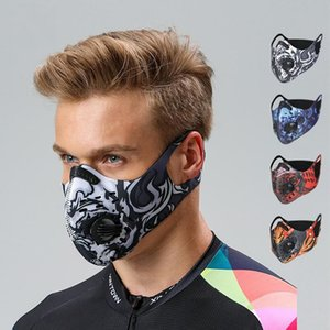 Yetişkin Açık Bisiklet Bisiklet Binme Gerdanlık Kapak Çift Valve ile Fasion Tasarım Soğuk Nefes Spor Jugging toz geçirmez Windproof Maske