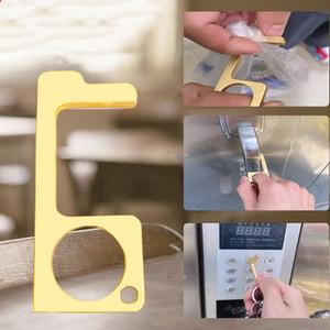 5 stil Anahtarlık Metal Temassız Kapı Açıcı karşıtı dokunmatik anahtarlık Kapı Kolu Kilit Asansör Aracı T2I5905 Hook