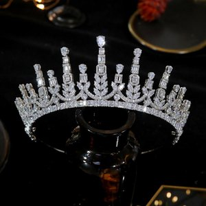 ASNORA высокого качества корону кубического циркония ювелирные изделия волос, свадебные диадемы, свадебные аксессуары, хрусталь зажим для волос, диадемы и короны