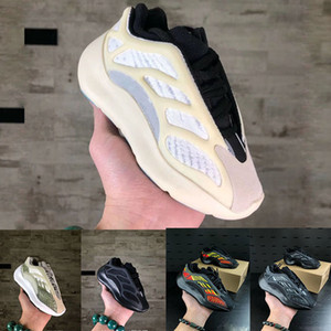Kids 7OO Infants Running Shoes Girls Sneakers Children Little Boys Azael Black Kanye West V3 Alvah Skeleton Basketball Trainers