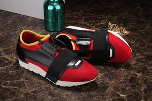 2019 Fashion Men Women Brand Letter Couple Shoes Mesh Leather Mixed colors Black Red Casual sports shoes Sneakers 11246997es Size 35-46