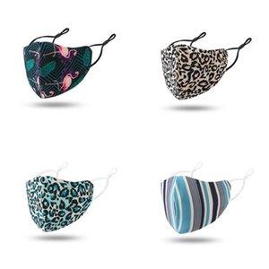 Dustproof Ventilação pano Máscara Facial lavável Mascarilla ouvido Máscaras Fecho Reuseable Leopard Print Flamingo Homens e mulheres impressão 2 7qya E2