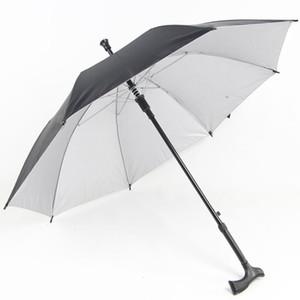 Donne Uomini Soleggiato Piovoso Ombrelli Stampelle antiscivolo Anziani ombrello manico lungo Protezione UV ombrello antivento personalizzato regalo aC BH1000