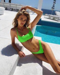 Womens Bikini Melphieer Set Beachwear costine Neon Solid Perizoma Micro Swimwear Due Pezzi Swimsuit bagnante costume da bagno Monokini