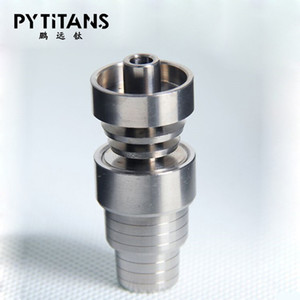 Hot Unversal 4 In 1 Titanium Nails 14mm & 18mm Domeless Titanium Nail Female and Male Joint for Glass Pipe Bong Bowl