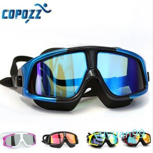 luxury- COPOZZ Swimming Goggles Comfortable Silicone Large Frame Swim Glasses Anti-Fog UV Men Women Swim Mask Waterproof