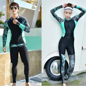Fashion rash guard couple 2020 mens women surfing suits long sleeve quality rashguards lovers UV swimming suit plus size T200708