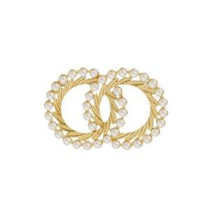 2020 berühmter Designer hochwertige Modemarke mit Stempeln Entwerferdamen Brosche Frauen Party Hochzeitspaar Geschenk Engagement Luxus Schmu