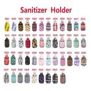 45 colori 30ML 10.3 * 6cm neoprene Hand Sanitizer alcool supporto di bottiglia Borse portachiavi Portachiavi Sapone del supporto della bottiglia