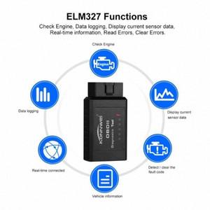 ELM327 OBD2 블루투스 이상 진단 장비 미니 테스터 자동차 도구 코드 문제 리더 스캐너 도구 오류 자동차 담당자 Z8X4 MIV3 번호