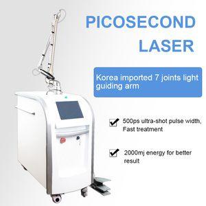 2020 Nova picosecond Modelo nd yag máquina de remoção de tatuagem a laser 532nm 1064nm máquina de remoção de 1320nm 755nm Picoway Pigment
