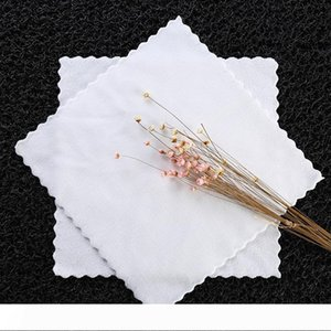 100pcs lot New Microfiber towels male table handkerchief towboats square handkerchief white 20cm