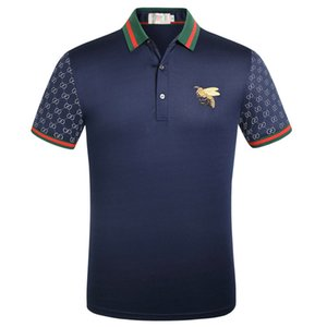 2020 Luxury Mens Designer Polo T shirts Summer Short Sleeved Turn Down Collar Short Sleeved Tops Polo Shirts