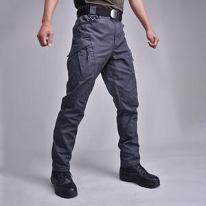 19 Pantalon tactique Cargo Pantalons Hommes coussin pour les genoux SWAT Armée couleur unie Vêtements Champ Combat pantalons Woodland