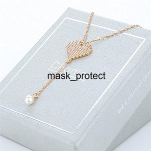 Сингапур Chomel ожерелье женщин алмаз в форме сердца кисточкой жемчужина кулон колье TikTok рекомендуется