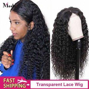 13x4 Lace Front perruques de cheveux humains Pré plumé pour les femmes du Brésil vague profonde dentelle transparente Frontal perruque avec perruque cheveux Meetu Rpg La pleine CKTA #