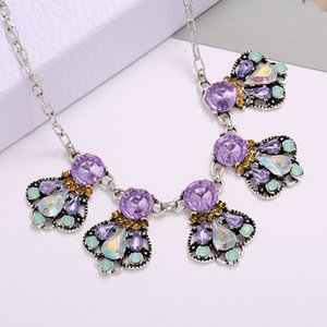Crystal Necklace Women Vintage Choker Necklaces For Womens Collier Femme Dress Jewelry Collares
