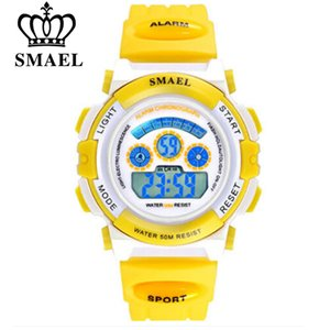 SMAEL Kids Digital Watches LED Display 50m Waterproof Kids Sports Watches Multifunction Electronic boys& girls Students Clock Gift