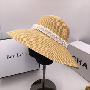 New summer straw big eaves fisherman cap basin sun hat is prevented bask in straw hat female small sweet wind of bucket hats