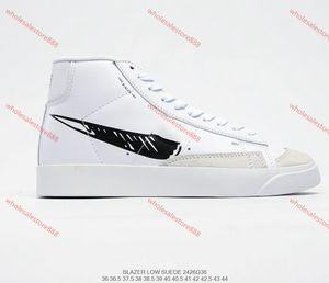 Off-White x Nike Blazer Mid 2.0 Turnschuhe Reaper Halloween Eve White Laufschuhe beiläufige Trainer Skate Trail Blazer Schuhkarton-Frauen