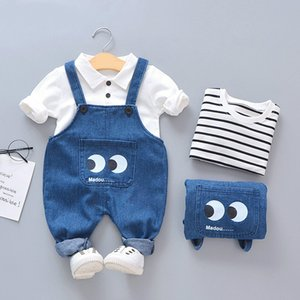 Melario Baby-Jungen-Kleidung 2020 Herbst-Winter-Baby-Kleidung Lässige Strap Anzug Outfit Säuglings-Kleidung Sets 1 4Y