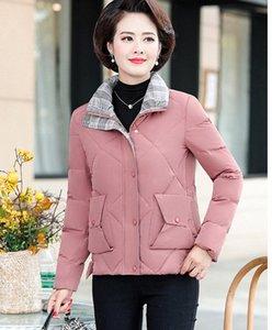 2019 Nuovo Inverno rivestimento delle donne spessore caldo di alta qualità breve cappotto del rivestimento Plus Size 40-50 donne di mezza età di Down F802 HKSz #