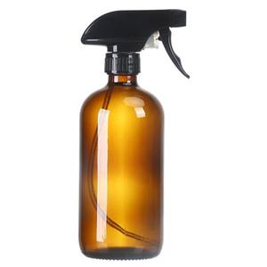 500мл прозрачный Brown Стеклянная бутылка Spray Liquid Essential Oil Bottle Professional Новые путешествия Очки розлив