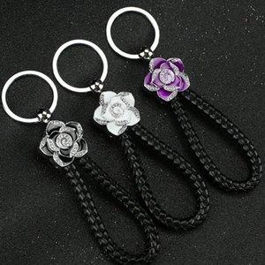 매력 동백 키 체인 여성 장신구 서스펜션 가방 자동차 키 체인 열쇠 고리 장난감 선물 반지를 선물 자동차 스타일링