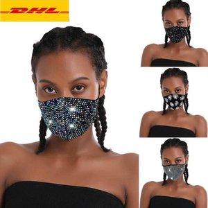 BlingBling маски для лица Модельер маски для лица женщины Хэллоуина маской блестки солнцезащитного крема маски с алмазными масками модных масок партии