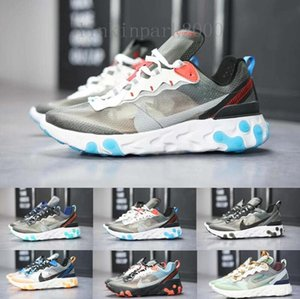 2019 React Element 87 Volt 55 Game Royal Taped Seams Running Shoes For Women men 55s Blue Chill Trainer 87s Sail Sports Sneakers NB2D