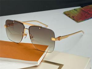 La venta de gafas de sol de la moda 1263 sin marco cuadrado simples patas de la estructura metálica de estilo informal gafas de protección UV de alta calidad con la caja original