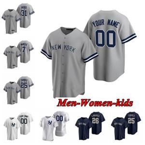2020 Мужчины Женщины Дети Yankee 99 Аарон Судите Джерси 45 Геррит Коул 25 Gleyber Торрес Джанкарло Stanton Sanchez Sabathia DJ LeMahieu Baseball