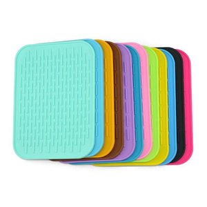 Food Grade Multifunction Resistant silicone Mats coaster Non-slip silicone Heat Resistant Mat Coaster Cushion Placemat Pot Holder Mats Pads
