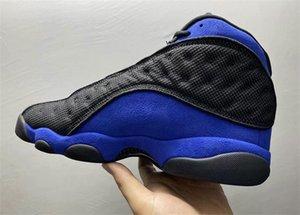 Hava Otantik 13 Hiper Kraliyet Siyah Beyaz Basketbol ayakkabı erkekler 3M Yansıtıcı Gerçek Karbon Elyaf Açık Sneakers ile Orjinal Kutusu ABD 7-13