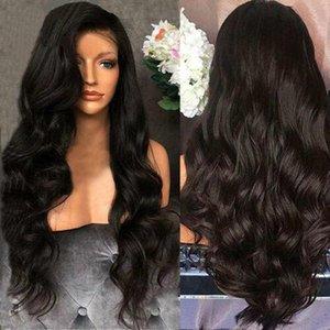 Virgo pelo 4X4 Cierre Peluca 30 pulgadas Cierre de encaje peruana peluca pelucas de cabello humano con el cuerpo del pelo del bebé de la onda de la peluca de Remy Negro Mujeres