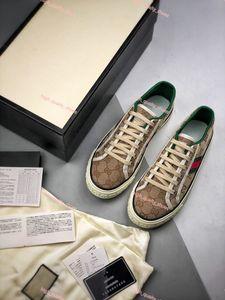 Gucci shoes 2020 Sıcak erkek erkekler için pamuk Lusso Moda Casual Eğitmen tasarım ayakkabı Hococal Web Yeşil ve Kırmızı ile Tasarım Tenis 1977 Sneaker womens