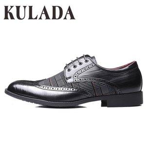 KULADA 2020 Men Brogue Comfortable Breathable Formal High Quality Brand Luxury Dress Shoes CX200731