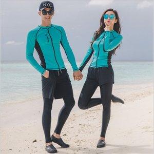 Yeni fermuar 5 parça uzun kollu yüzmek Dalış takım açık hava spor açık spor güneş kremi sörf dalgıç elbisesi zayıflama göbek kapsayan